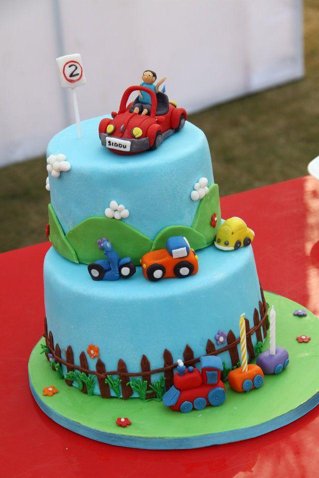Fondant Birthday Cake for a Baby Boy Cake Decorating