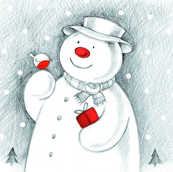 Make A Wish makeawishuk snowman Christmas card see
