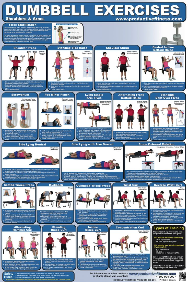 Dumbbell Exercises Sweat Often Pinterest Exercise Dumbbell Workout And Workout