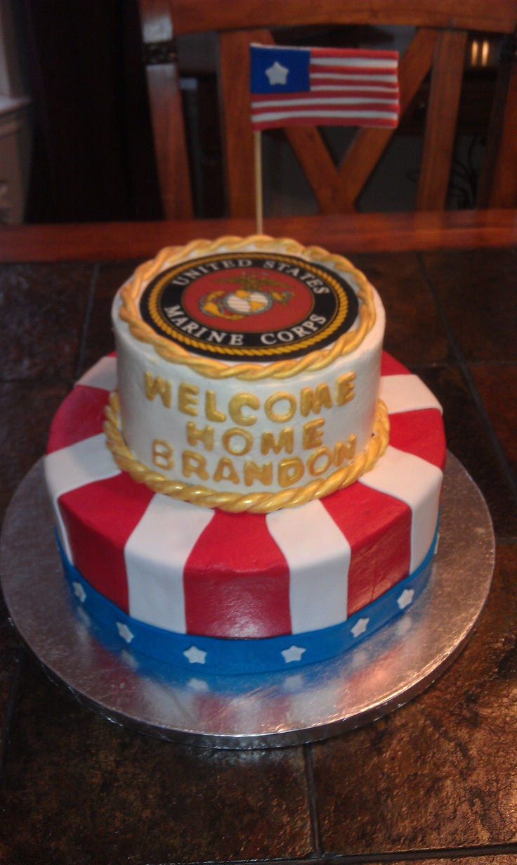Home cake for Marine Cakes Pinterest Marines