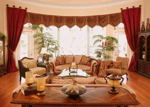 Window Treatment Ideas For Bay Windows In Living Room With