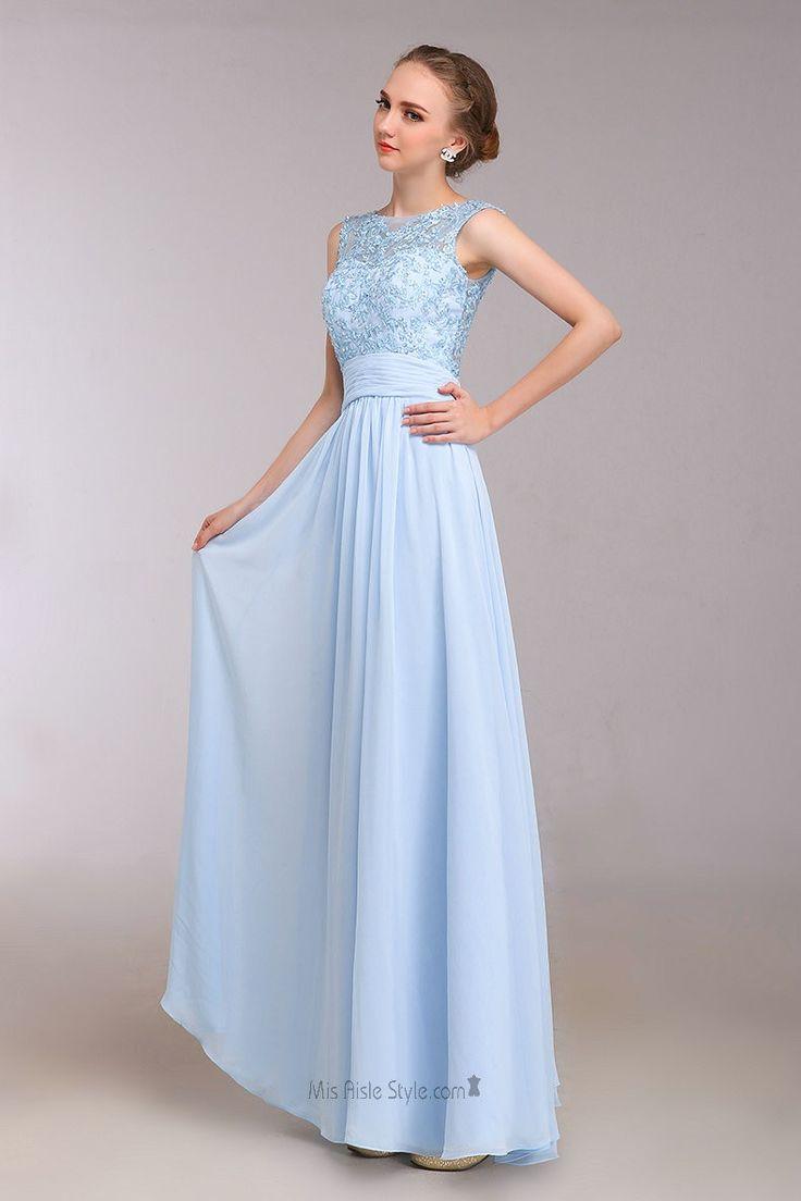 Formal Light Blue Dress