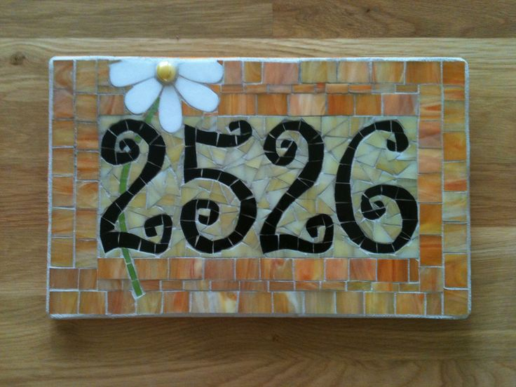 Image Detail For Custom Mosaic Address Plaque By Melissaforcier On Etsy Mosaic House Numbers