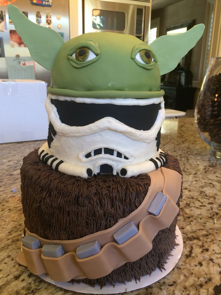 Star Wars Cake Chewbacca Yoda Storm Trooper May The