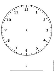 1000 ideas about blank clock on pinterest clock worksheets