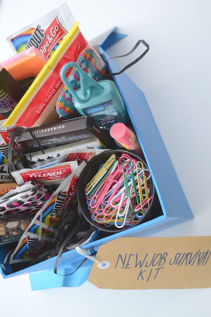 new job survival kit cubicle survivor kit going away