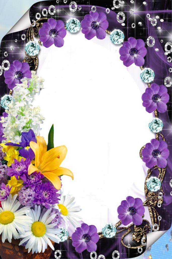 Purple Flower Borders and Frames Purple Flower Borders