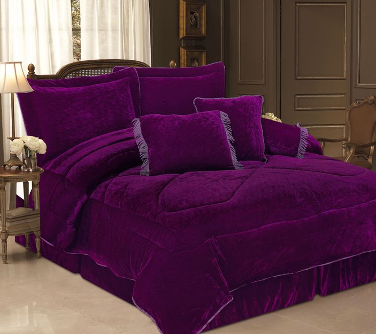 16 Best Images About Purple Comforter Sets Queen Sized On Pinterest Damasks Purple Comforter