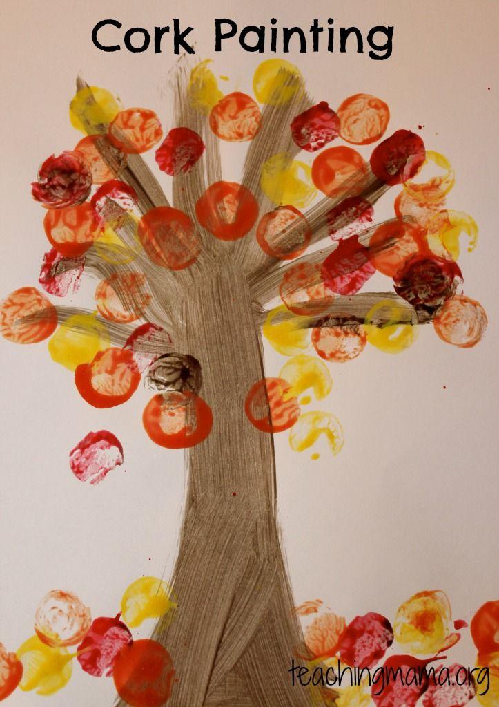 8 Leaf Activities for Preschoolers…@Teresa Selberg Ballesteros  save your wine corks!