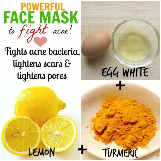 Egg white is a popular home remedy for beautiful skin. Coupled with lemon, which lightens scars & turmeric, which actively fights