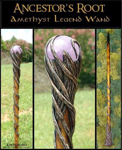 Kurth Works Custom Hand Carved Magic Wizard Wands and Staffs