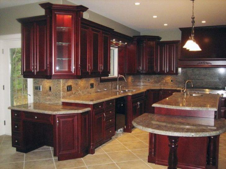 Cherry Wood Kitchens Dark Kitchen