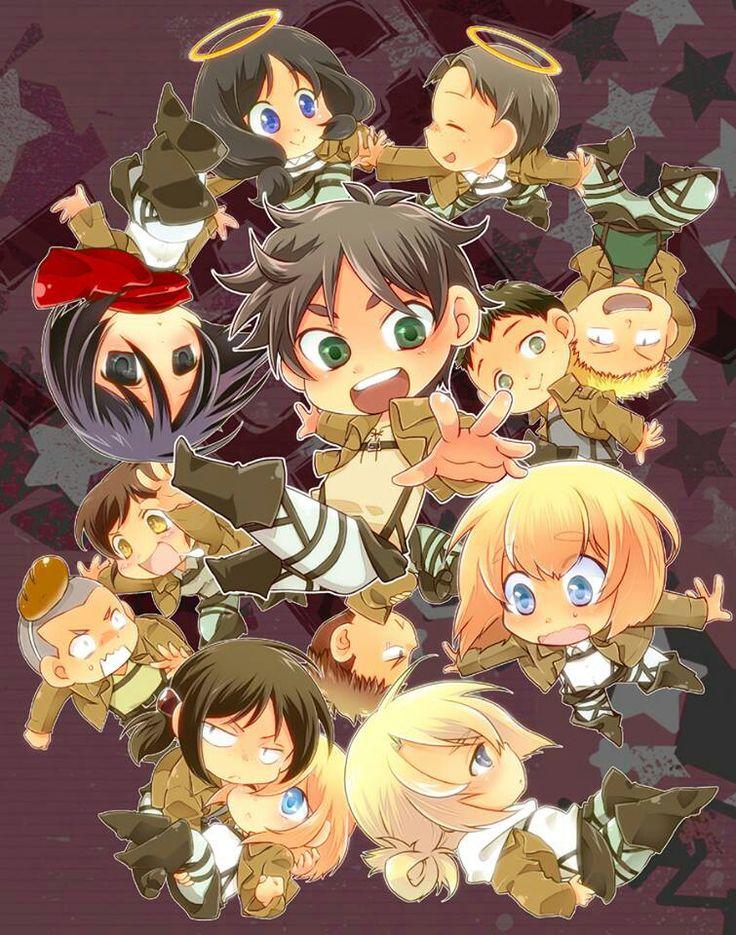 Chibi Shingeki no Kyojin Attack On Titan! Pinterest