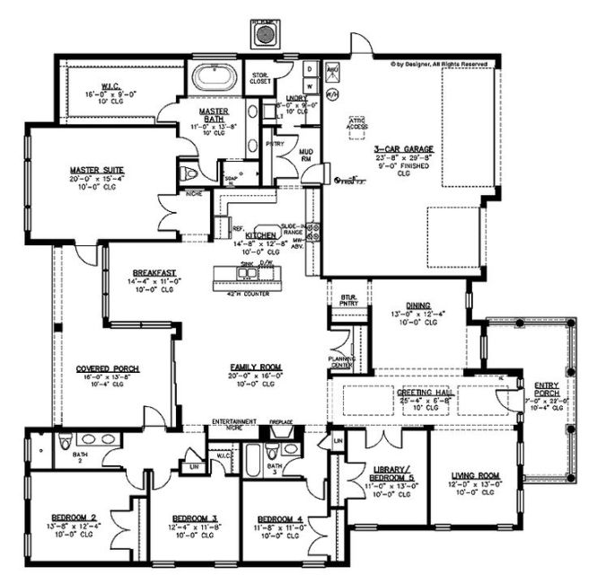 25 Best Ideas About 5 Bedroom House Plans On Pinterest 4 Country And Blue Open Plan Bathrooms