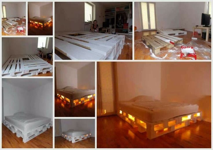 Wood Pallet Bed Frame DIY Pinterest Inspiration
