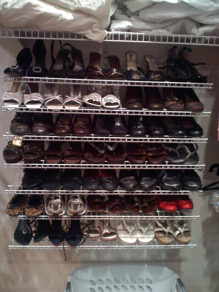 Diy Closet Maid Shoe Organizer Finally A Shoe Display