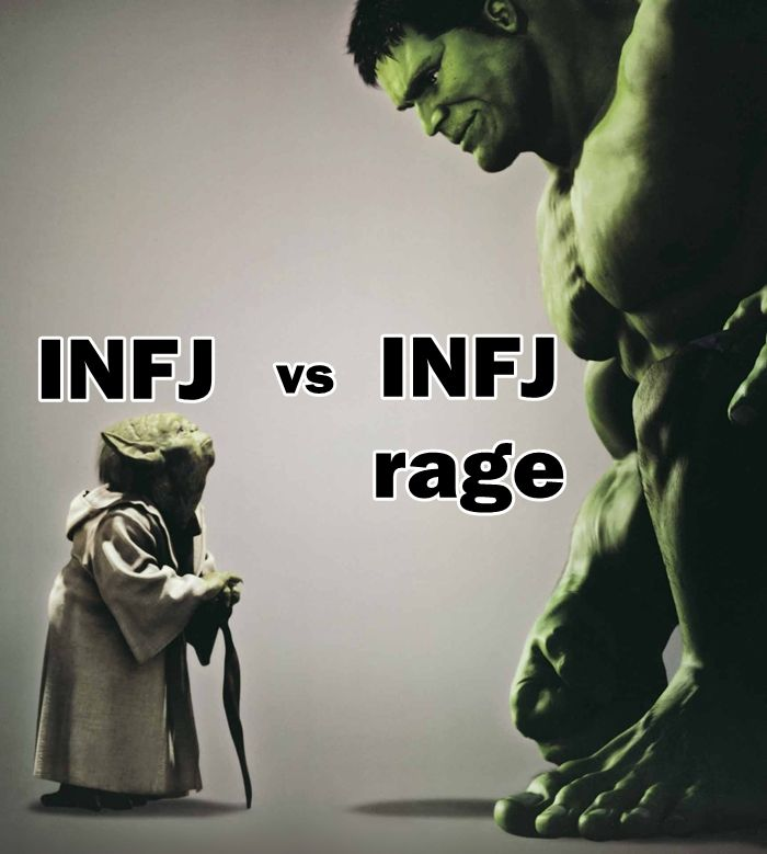 Descriptions of the INFJ personality type often emphasize our peaceful natures, and point out that we have a hard time dealing