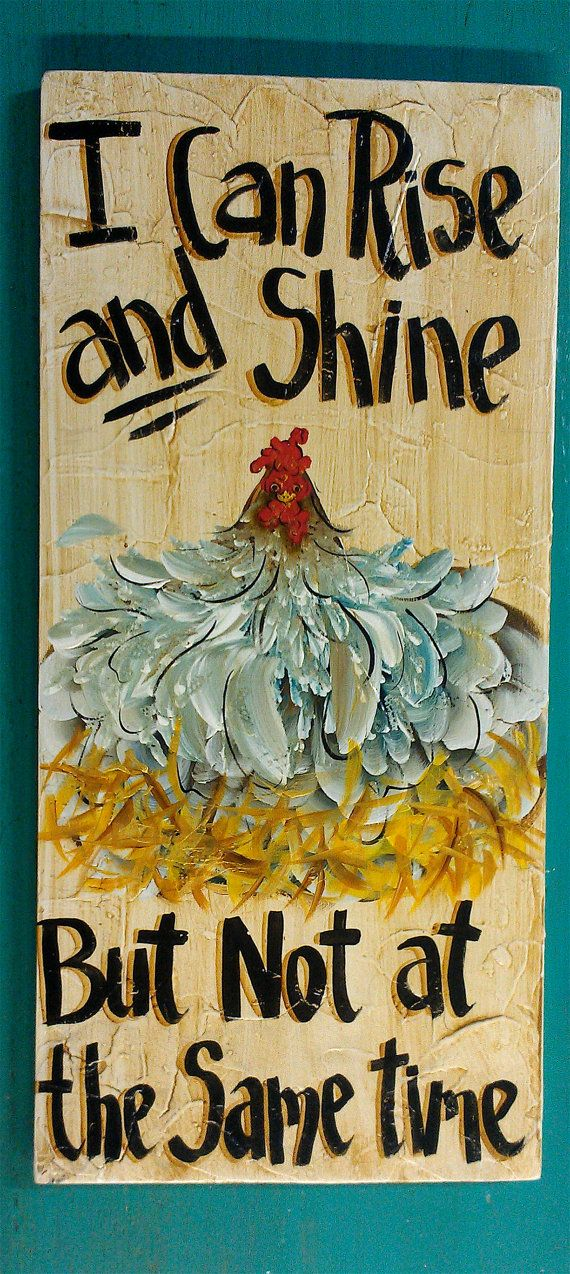 Folk Art Chicken Painting Original art by cackleblossums on Etsy,
