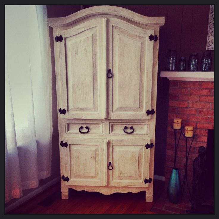Pine Armoire Refinished With Annie Sloan Chalk Paint In