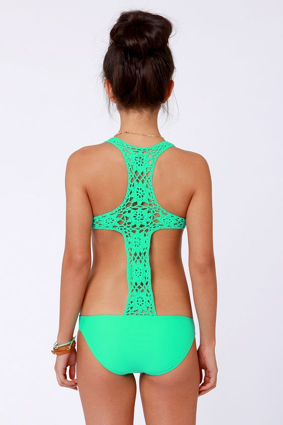 Beach Riot The Day Dreamer – Sea Green Swimsuit – One Piece Swimsuit – $151.00
