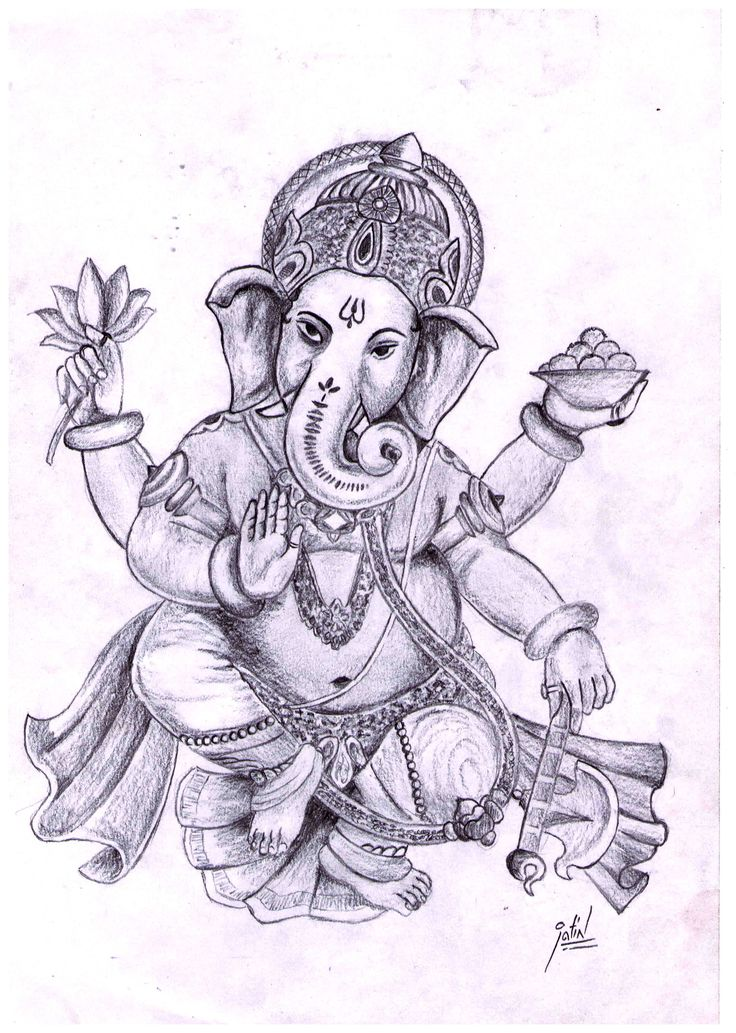 Pencil Sketch Of Lord Ganesha Best Collection Of