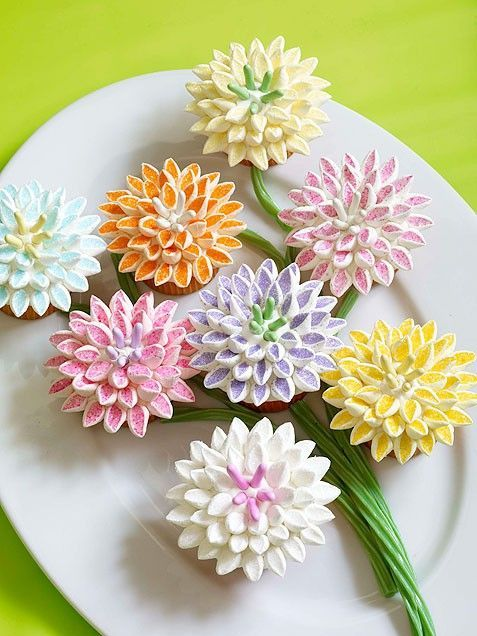 How to Make Flower Birthday Cupcakes