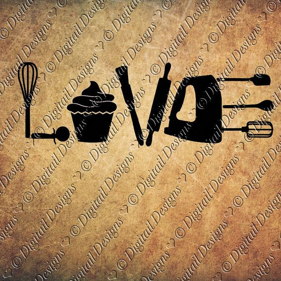 Download Love Baking SVG PNG DXF Eps Fcm Ai Cut File for Silhouette ...