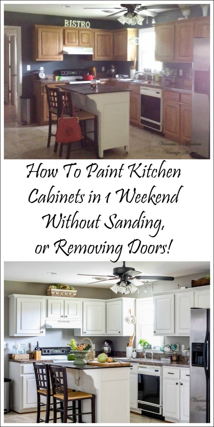 How I Painted My Kitchen Without Removing The