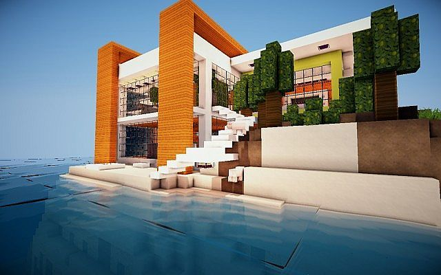 Modern Island House Minecraft Project