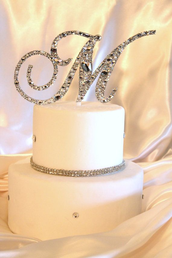 Monogram Cake Monogram Cake Toppers And Cake Toppers On