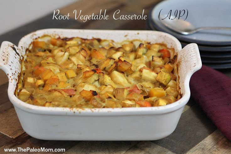 Root Vegetable Casserole. Use veg stock or even bone broth if you like here and leave out the wine, sorry!: