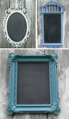 chalk board paint on frames or mirror ……42 Craft Project Ideas That are Easy to Make and Sell – Big DIY IDeas