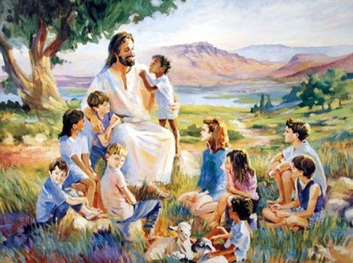 jesus loves the little children all the children of the world red