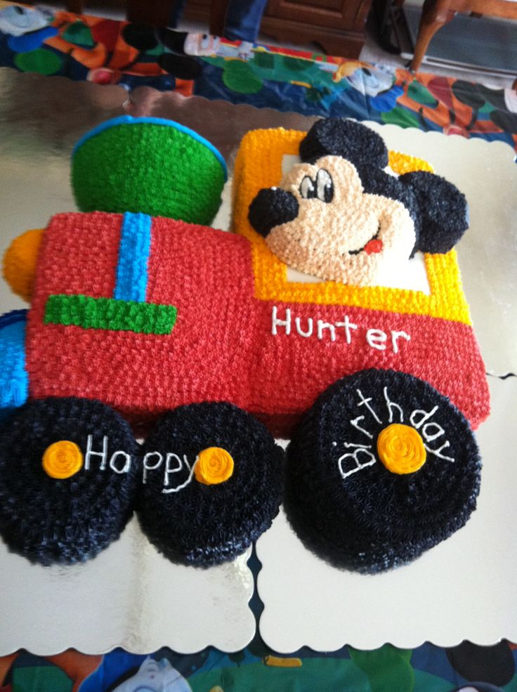 Mickey Mouse Train Cake Cakes Pinterest Mickey Mouse