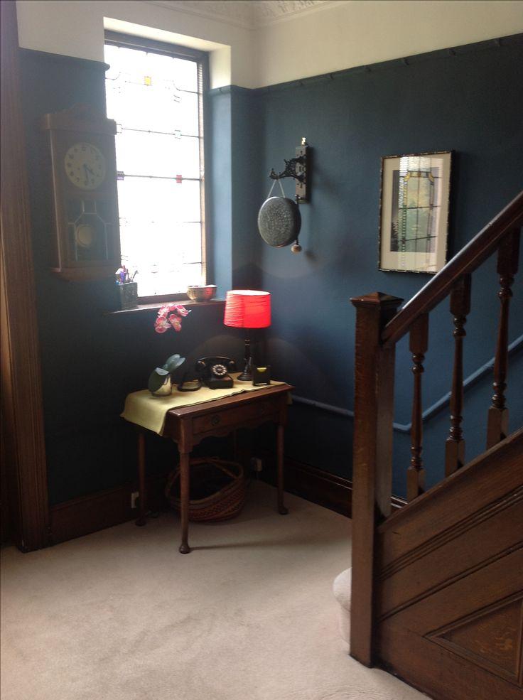 Hague Blue Walls In Hallway Hague Blue Hallway