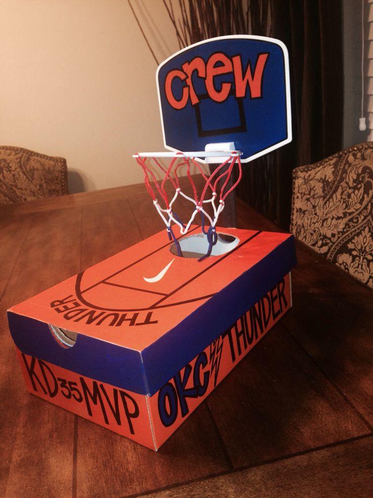 Okc Thunder Basketball Valentines Box Bambinos
