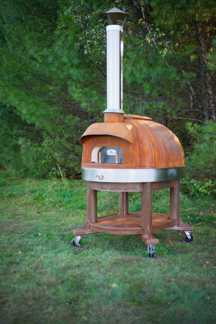 Corten Model 99 with Stand Made by Maine Wood Heat