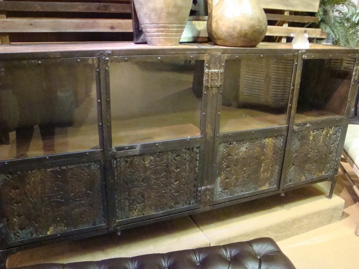 Reclaimed Wood And Metal Console Table Buffet