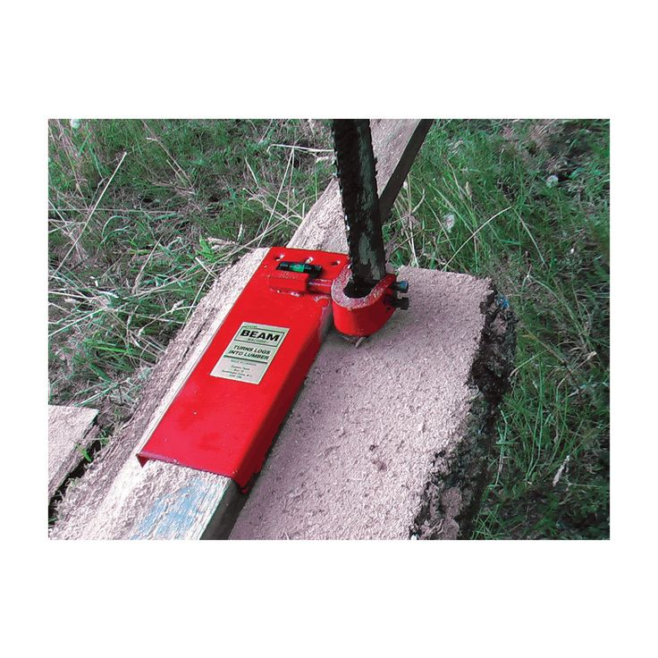 Turn logs into lumber with the Beam Machine, which attaches securely to any chain saw and converts it into a portable sawmill.