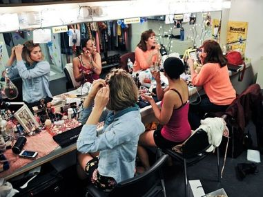 Image result for community theatre actors in dressing room