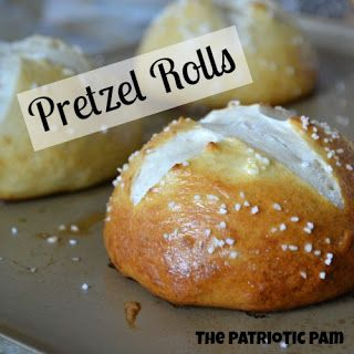 These Pretzel Rolls are the best I have ever tried.  Great for hamburger buns, s