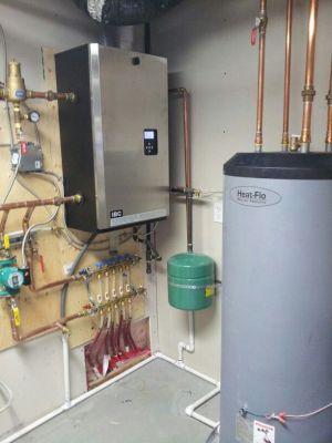 #IBC #high efficiency boiler, #heatflo indirect hot water heater, #watts #radiant manifolds, #