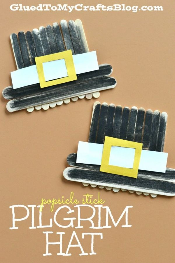 Popsicle Stick Pilgrim Hat - Kid Craft: