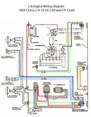 ELECTRIC: L6 Engine Wiring Diagram | Chevy 6 | Pinterest | Engine and Electric
