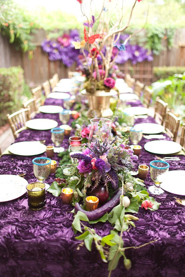 Purple And Gold Bridal Shower Ideas Gardens Florists