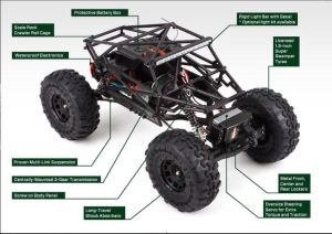 Rc electric rock crawler a picture of underneath the body