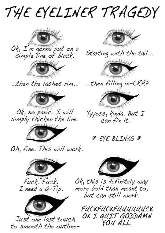 The eyeliner tragedy // funny pictures - funny photos - funny images - funny pics - funny quotes - #lol #humor #funnypictures: