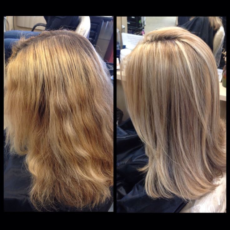 Color Correction Highlights And Lowlights Light Blonde