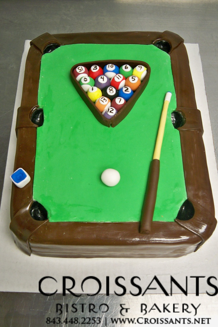 14 Best Images About Pool Table Cake On Pinterest
