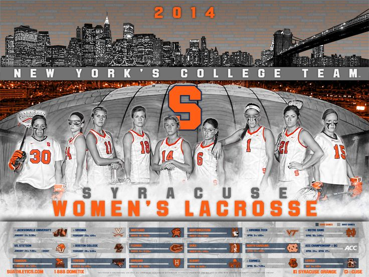 Syracuse Women's Lacrosse Poster 2014 Game Time